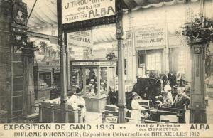 belgium, GAND GENT Exposition Expo, Cigarettes Manufacture Stand (1913) Tobacco