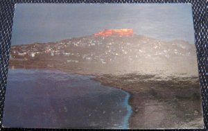 Greece Lesbos Molyvos view by night - posted 1987