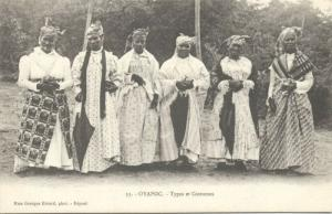 french guyana, OYAPOC, Native Types Costumes (ca. 1899)