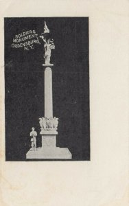 OGDENSBURG ,  New York , 1901-07 ; Soldiers Monument