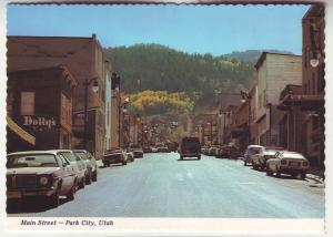 P791 vintage many cars etc main street scene park city utah