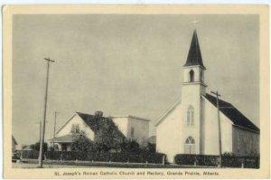 St. Joseph's Roman Catholic Church & Rectory, Grande Prairie, Alberta, AB, W/B
