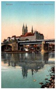 Germany Meissen  Elbrucke Kongl Albrechtsburg