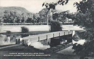 Massachusetts Easthampton Parents Bridge And Williston Pond Williston Academy...