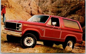 1980s FORD BRONCO Advertising Postcard L.F. DONNELL FORD Youngstown Ohio Unused