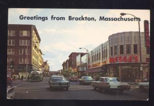 BROCKTON MASSACHUSETTS DOWNTOWN SS KRESGE STORE OLD CARS