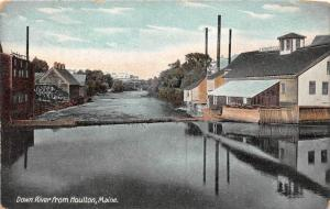 Maine Houlton, Down River with factories on left side of banks