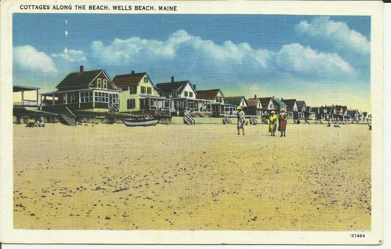 Wells Beach, Maine, Cottages along the beach