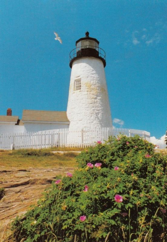 LIGHTHOUSE , Pemaquid Point , Maine , 80-90s