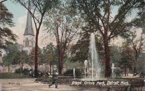 Michigan Detroit Scene In Grand Circus Park