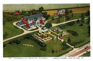 1934 Dr. Crandall's Health School, Lincoln Higway, East of York, PA c9