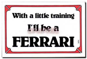 Modern Postcard With a little training Ferrari