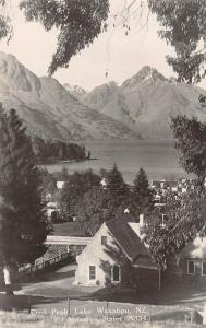 Lake Wakatipu New Zealand Cecil Peak Scenic Real Photo Antique Postcard (J27627)