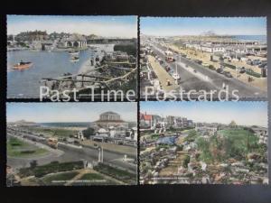 Old PC's set of 4,Gt. Yarmouth: Wellington Pier, Boating Lake, Venetian Waterway