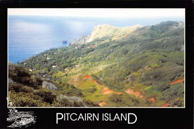Group Of 5 Pitcairn Island Continentals Scenic View Vintage Postcards K28801