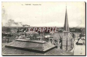 Troyes Old Postcard Panorama East