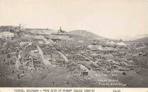 LP82   Victor  Colorado Postcard City of Mines