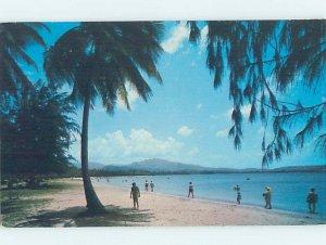 Pre-1980 BEACH SCENE Luquillo Beach - Near San Juan Puerto Rico PR AE9211