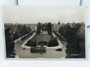 Vintage Rp Postcard Valeriusplein Amsterdam Netherlands Holland Posted 1937