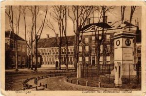 CPA GRONINGEN Gugotplein met Doofstommen instituut NETHERLANDS (604211)