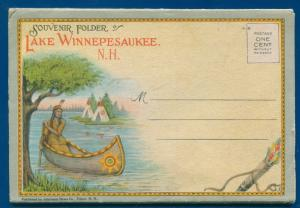 Lake Winnepesaukee Lakes Region New Hampshire nh Postcard Folder #8