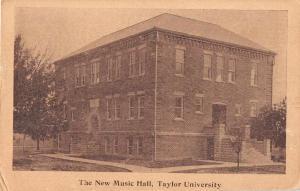 Upland Indiana Taylor University Music Hall Antique Postcard J50816