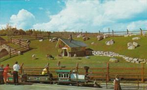 Canada Goats On Hillside Above Railway Tunnel The Children's Zoo Storyland Va...