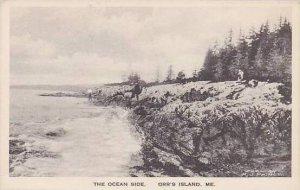 Maine Orrs Island The Ocean Side Albertype