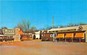 McAlester OK Brad's Chuck Wagon Mayfair Motel Route 69 Postcard