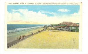 Showing Boardwalk, Casino & Bathing Beach On The Atlantic Ocean, Carolina Bea...
