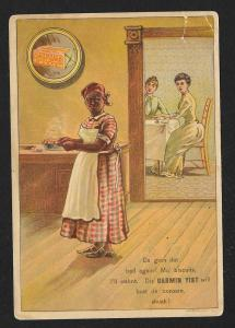VICTORIAN TRADE CARD German Yeast Black Lady Cook