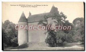 Postcard Old castle near GOUZON of Rville Panigeon