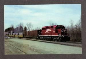 NY CP Rail System Railroad Train Loco 6034 SARATOGA SPRINGS NEW YORK Postcard