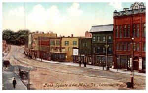 New Hampshire Laconia , Bank Square and Main street
