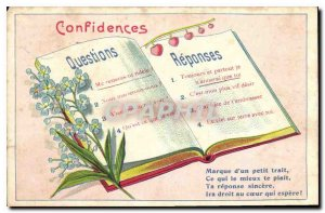 Old Postcard Confessions Flowers