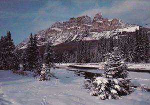 Canada Castle Mountain Banff National Park Banff Alberta