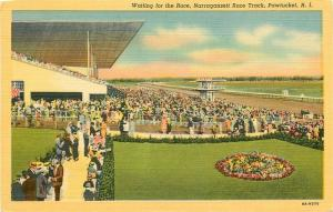 RI, Pawtucket, Rhode Island, Narragansett Race Track, Curteich No. 6A-H570