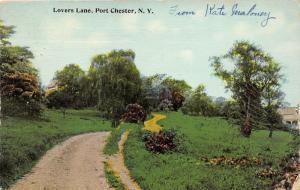 Port Chester New York~Lovers Lane thru Field~Westchester County~1912 Postcard