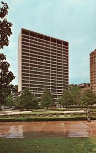 Fort Worth, TX, First National Bank Building, Chrome Vintage Postcard g9059