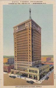 Alabama Birmingham Hotel Thomas Jefferson Curteich