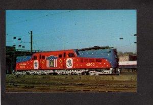 PA Conrail Railroad Train Locomotive 4800 Harrisburg Pennsylvania Postcard