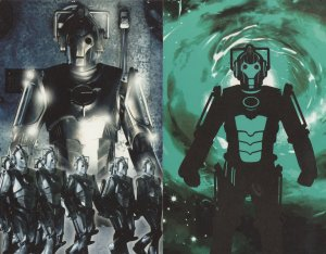 Doctor Dr Who Rise Of The Cybermen 2x TV Show Postcard s