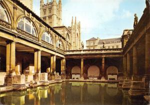 The Roman Baths and Bath Abbey England