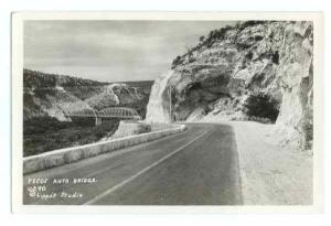 RPPC of Pecos Auto Bridge, U.S. 90, Texas, TX, EKC real photo