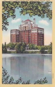 Texas Dallas Cliff Towers Hotel From Lake Cliffs Curteich