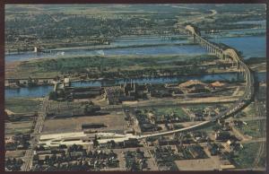 Sault Ste Marie Ontario Canada International Bridge St. Mary River Postcard