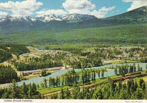 Canada Aerial View Golden British Columbia