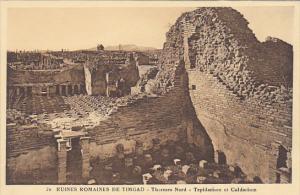 Tunisia Ruines Romaines de Timgad Thermes Nord Tepidarium et Caladrium