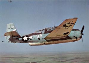 GRUMMAN TBF-1 AVeNGER~TORPEDO BOMBER~CREW OF 3~MILITARY AIRCRAFT POSTCARD