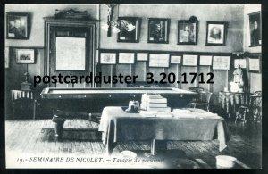 1712 - NICOLET Quebec Postcard 1910s College Interior. Staff Room by Masselotte